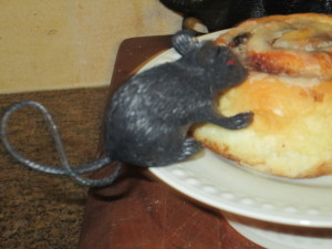 Cute,hungry little mouse!  Make them look like they are really eating it!
