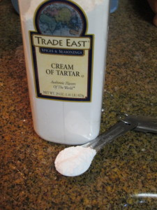 Add one tablespoon cream of tarter.