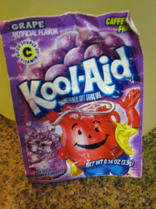 Add one package of Kool-Aid, any flavor.