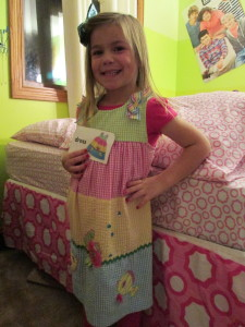 Lucy matched her word flashcard!  Exact dress!  It was so exciting!