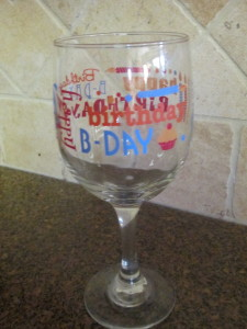 Happy Birthday Glass!  The kids love this and it makes a special meal even more memorable!