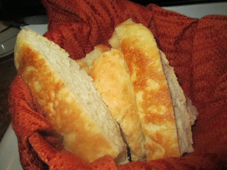 Cut bread and enjoy!  We love this bread!  It really is so easy!