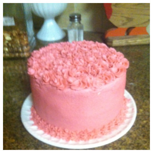 This is Marshas smash cake!  She loved it and ate like half of it!