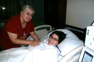 My mom and I, this was when Marsha was born!  We have to take pictures more often!
