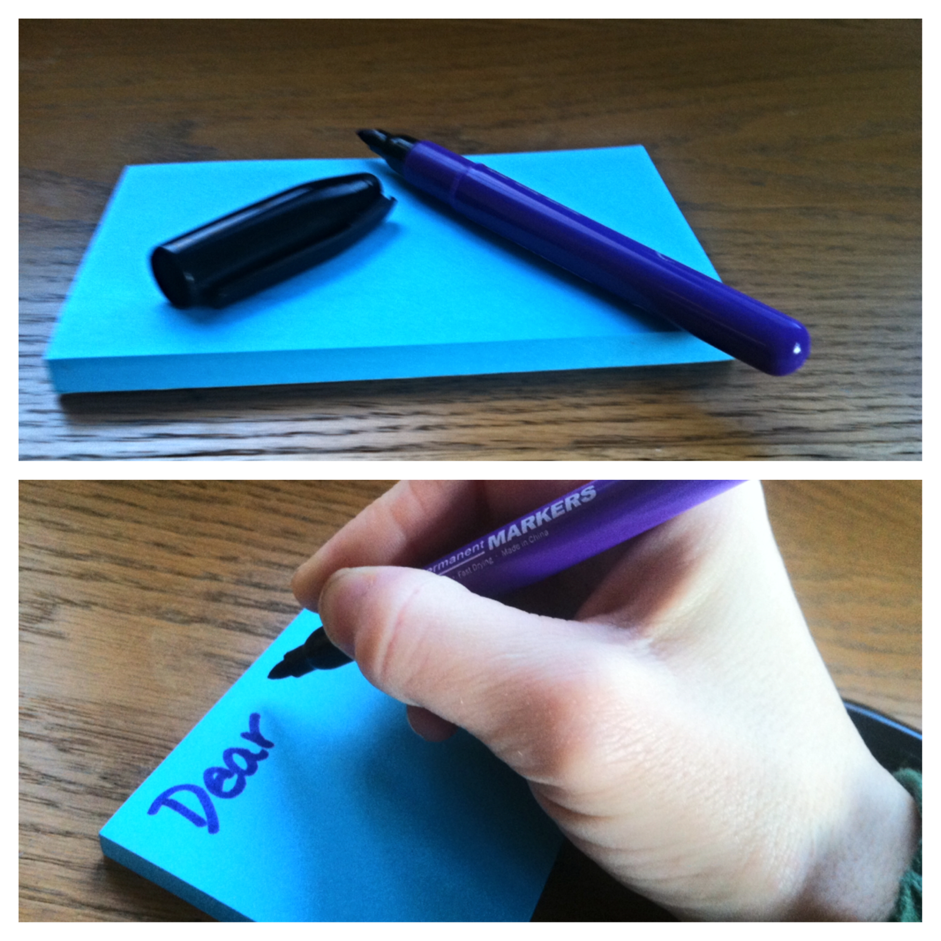 Grab a sticky note pad, a pen and get writing!