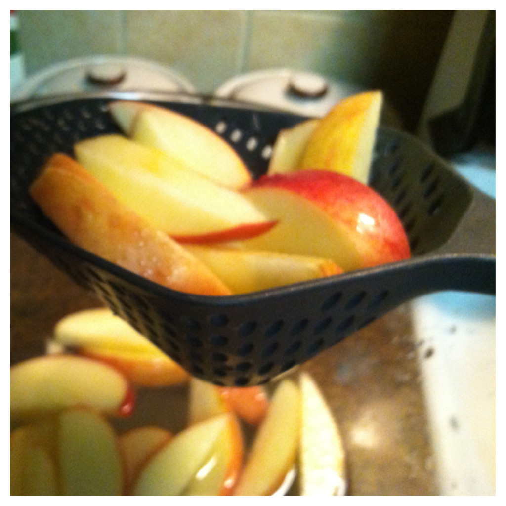 Drain your apples, I love this strainer by the way!  It is huge!
