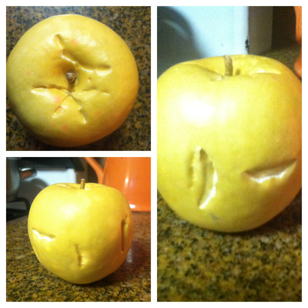 This apple I will save forever!  I had some fake fruit for the girls. This is one of those pieces of fruit!  I love that not only did they think it was real,but they kept trying to bite it in different spots, as if it would be better if they bit it somewhere else!  I love it!