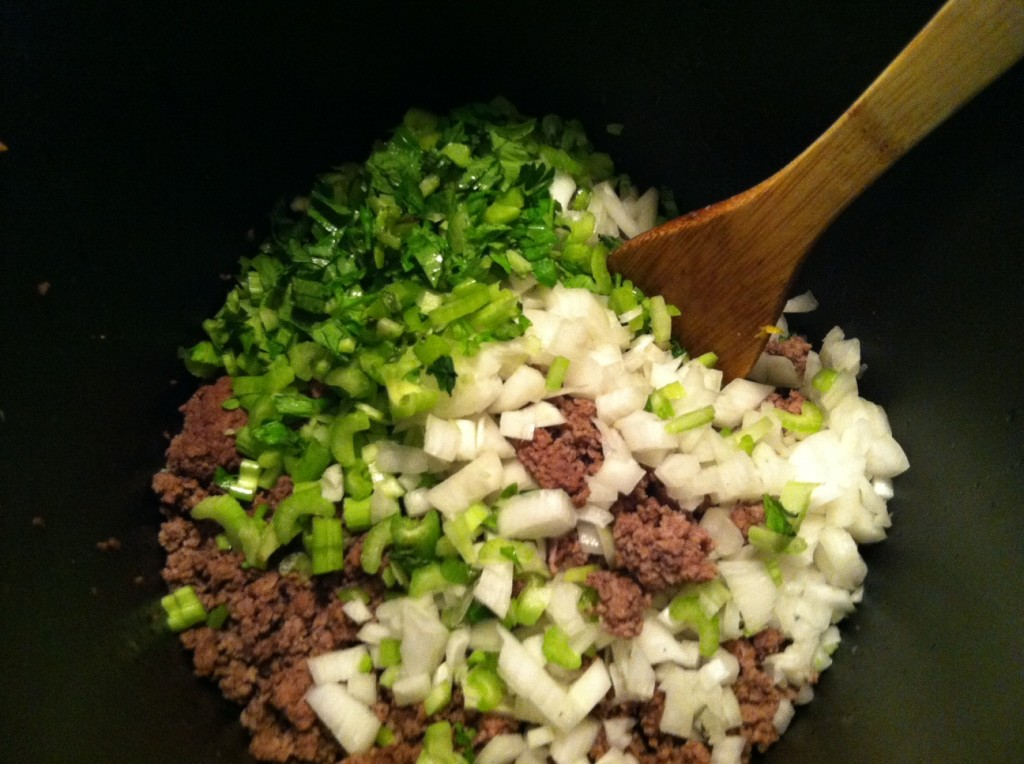 Mix into beef, doesn't that look so good!