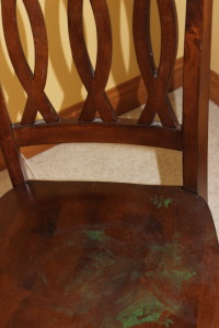 Nail Polish on my chair!!!!!!!!!