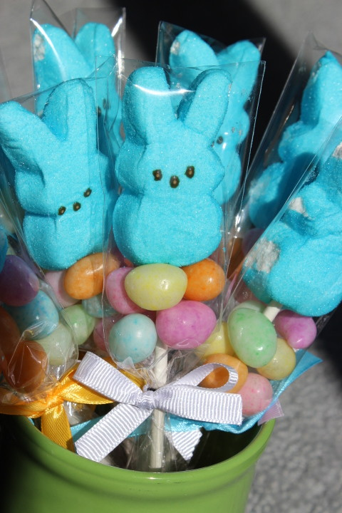 Easter peep treats in a jar