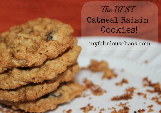 The Best Oatmeal Raisin Cookies!