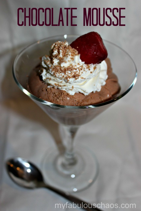 final chocolate mousse