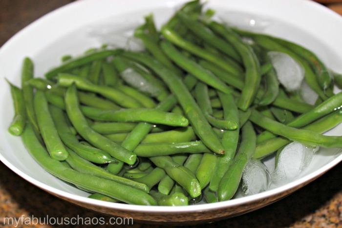 shocked green beans