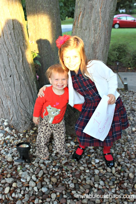 first day of school lucy and charli