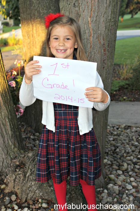 first day of school -lucy