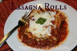 Delicious Lasagna Rolls!