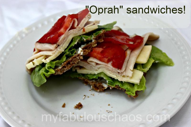 """""""Oprah"""" Sandwiches"""