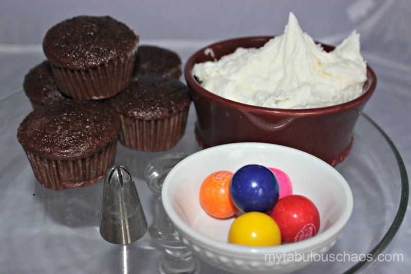 Gumball cupcakes 1