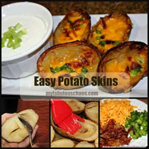EASY and DELICIOUS POTATO SKINS!!