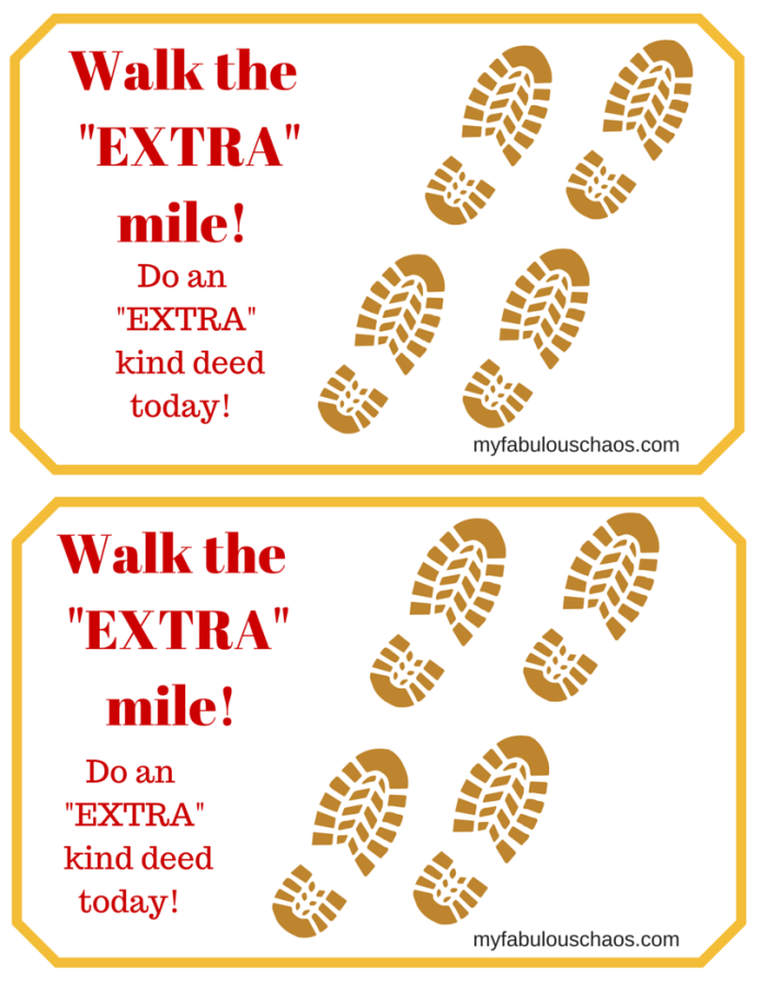 Walk the -EXTRA- mile
