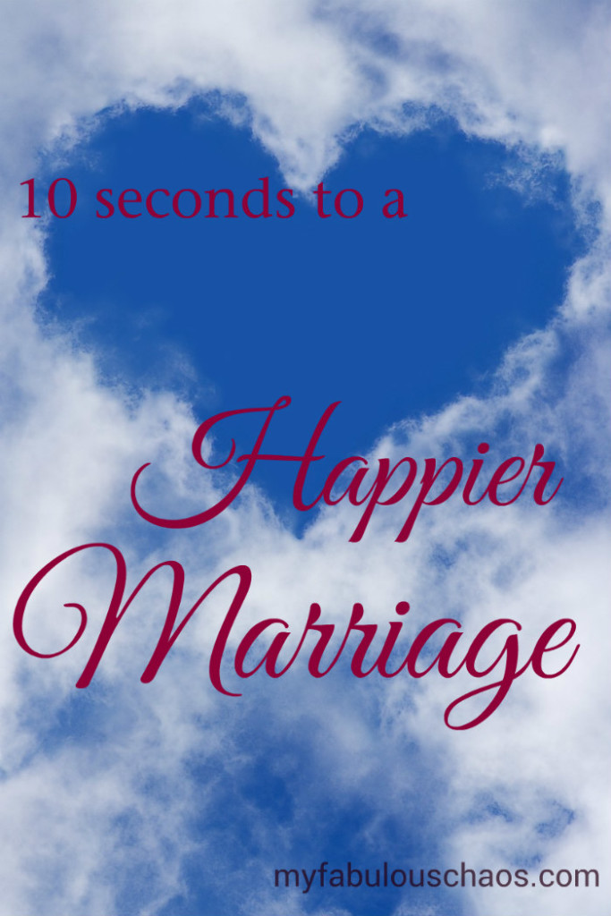 Ten Seconds to a Happier Marriage