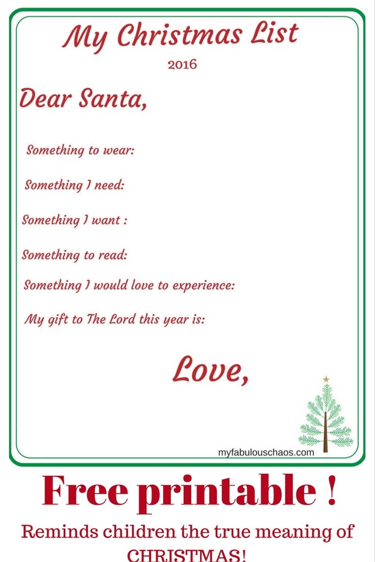 How To Make Letters To Santa Special  My Fabulous Chaos